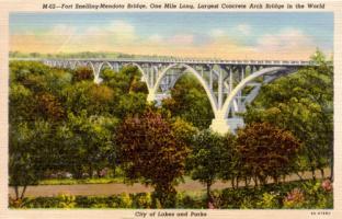 Mendota Bridge, 1935