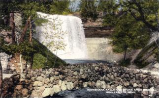 Minnehaha Falls and Stone Arch Bridge, Minneapolis