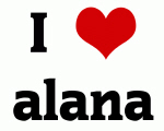 I Love alana