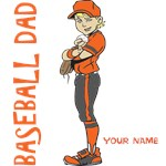 PERSONALIZED BASEBALL DAD