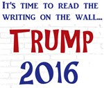 Trump writing on the wall