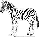 Standing Zebra Left