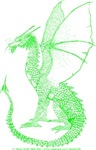Bright Green Watcher Dragon