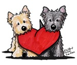Cairn Terrier Heartfelt Duo