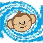 Monkey Blue Swirl