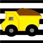 Dump Truck on Stripes