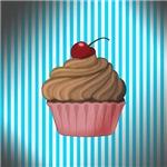 Cupcake on Teal
