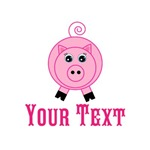 Personalizable Pink Pig
