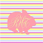 Personalizable Monogram Bunny