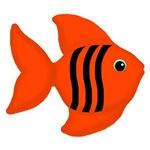Orange Black Fish