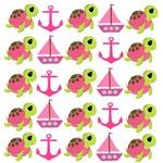 Pink Nautical Pattern