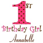 Personalizable First Birthday Girl