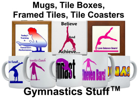 Gymnastics Mugs, Water Bottles, Travel Mugs