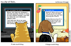 Cat and dog bloggers!