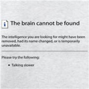 Brain cannot be found!