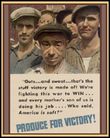 PRODUCE FOR VICTORY WWII T-SHIRTS