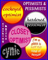 OPTIMISTS & PESSIMISTS T-SHIRTS & GIFTS