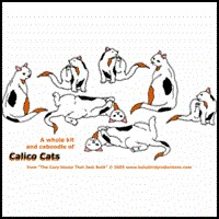 CALICO CATS ON T-SHIRTS & CLOTHING