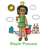 Beach Princess (Dark Skin)