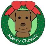 Chesapeake Bay Retriever Christmas Ornaments