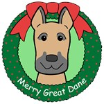 Great Dane Christmas Ornaments