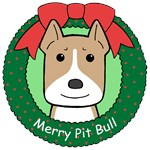 Pit Bull Christmas Ornaments