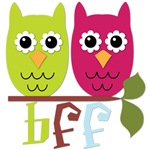 BFF Best Friends Forever Owls
