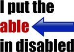 Able in disabled
