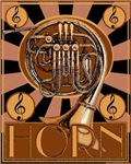 Retro French Horn