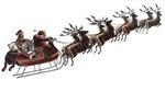Santa Claus Sleigh Reindeer