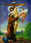 St. Francis Embraces Jesus on Cross #1