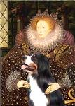 QUEEN ELIZABETH I<br>& Bernese Mountain Dog