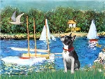 SAILBOATS<br>& Boston Terrier