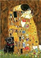THE KISS<br>& Black Pug