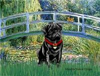 LILY POND BRIDGE<br>& Black Pug