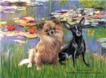 LILIES (#2)<br> & 2 Chihuahuas