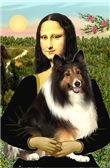 MONA LISA<br>& Shetland Sheepdog (tri)