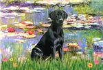 LILIES (#2)<br>& Black Labrador Retriever