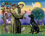 Saint Francis with a<br>Black Great Dane