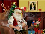 SANTA AT HOME<br>With his Yorkie (#13)
