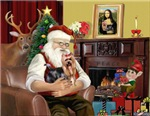 SANTA AT HOME<br>With his Yorkie (#9)