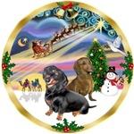 CHRISTMAS MAGIC<br>& 2 DACHSHUNDS (BB)