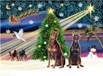 CHRISTMAS MAGIC<br>& 2 Dobermans