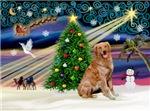 CHRISTMAS MAGIC<br>& Golden Retriever