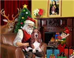 SANTA AT HOME<br>With his Basset Hound