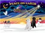CHRISTMAS SUNRISE<br>& 2 Standard Poodles