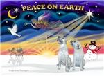 CHRISTMAS SUNRISE<br>& 2 Irish Wolfhounds