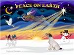 CHRISTMAS SUNRISE<br>& Jack Russel Terrier