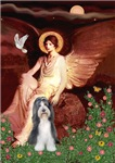 SEATED ANGEL<br>& Bearded Collie #6