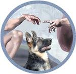 CREATION OF MAN<br> & German Shedpherd (#15)